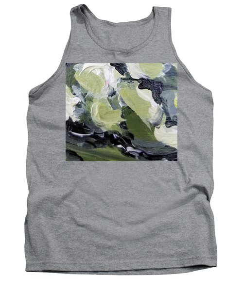 Tank Top featuring the painting Green #1 by Maria Langgle