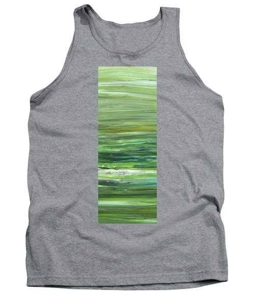 Green Abstract Meditative Brush Strokes II Tank Top