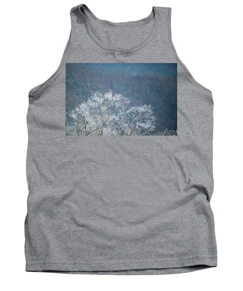 Hoarfrost Collects On Branches Tank Top