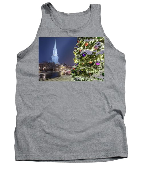 Holiday Snow, Market Square Tank Top