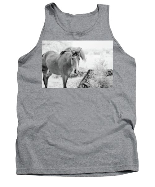 Horse In Infrared Tank Top