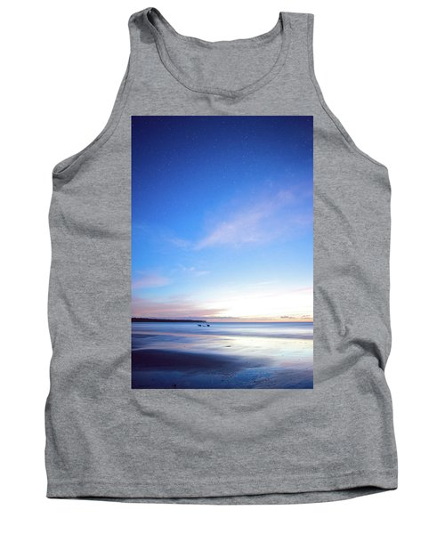 Horses Play In The Surf At Twilight Tank Top
