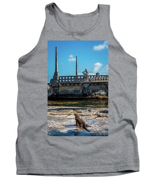 Iguana At Vizcaya Barge Tank Top