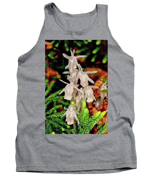 Indian Pipes On Club Moss Tank Top