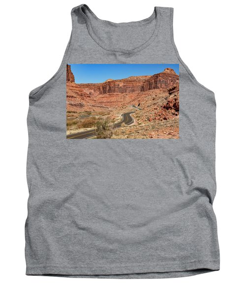 Tank Top featuring the photograph Into The Red Cliffs by Andy Crawford