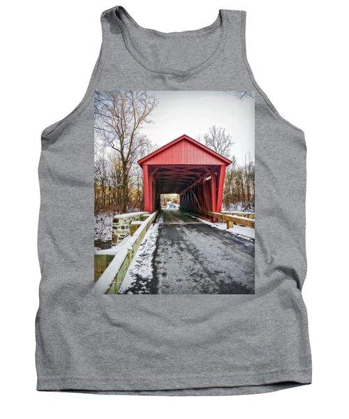 Jericho Covered Bridge Snow Tank Top