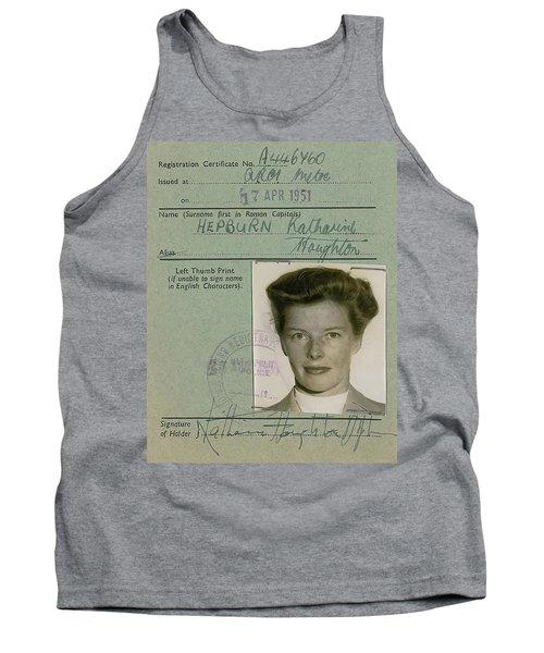 Katherine Hepburn's U. K. Alien Registration Certificate 1951 Tank Top