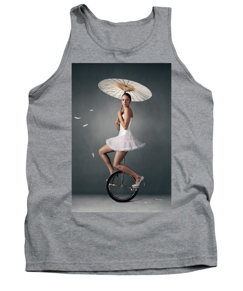 Lady On A Unicycle Tank Top