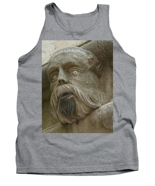 Life Sized Sculptures Of Human Heads Tank Top