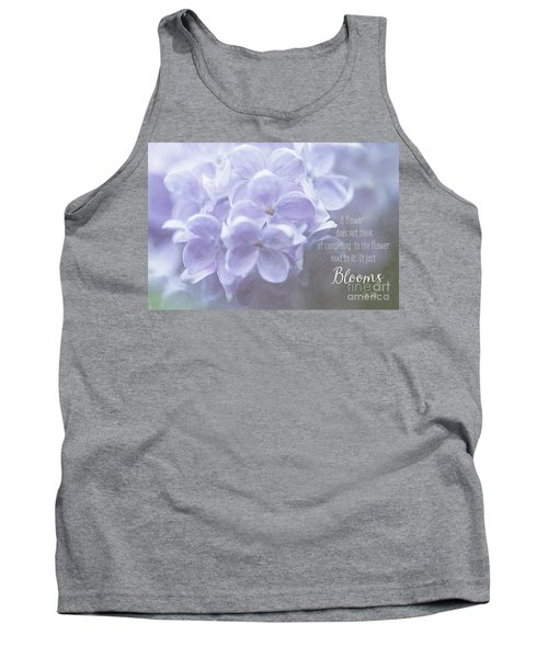 Lilac Blooms With Quote Tank Top