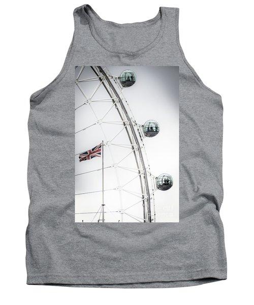 London Eye And Union Jack Tank Top