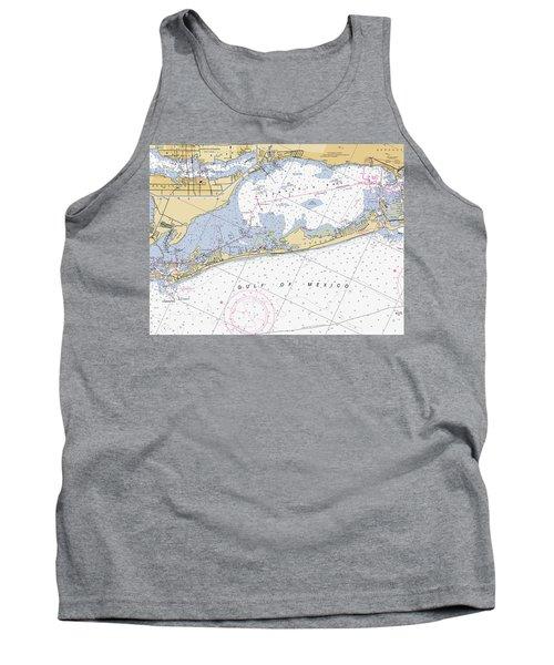 Longboat Ket Florida Noaa Nautical Chart Tank Top