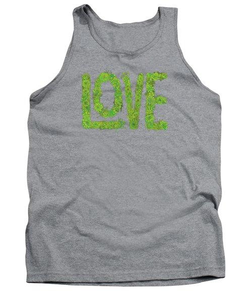 Love Succulent Dark Background Tank Top