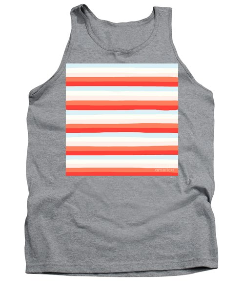 lumpy or bumpy lines abstract and colorful - QAB266 Tank Top
