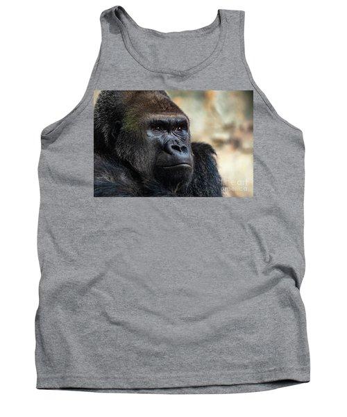 Male Western Gorilla Looking Around, Gorilla Gorilla Gorilla Tank Top