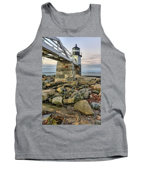 Marshall Point Light From The Rocks Tank Top