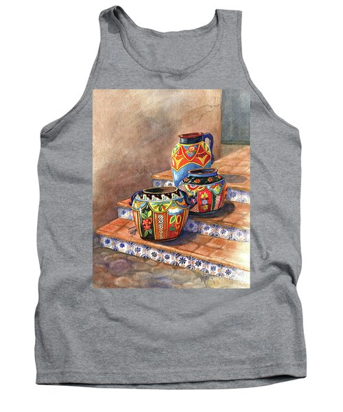 Mexican Pottery Still Life Tank Top
