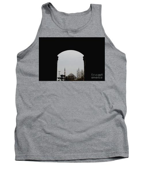 minarets in the city for the prayer of the Muslim religion Tank Top