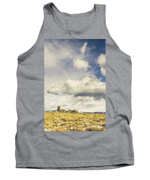 Minimal Mountaintop Meadow Tank Top