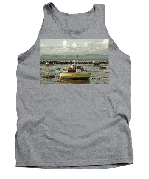 Morecambe. Boats On The Shore. Tank Top