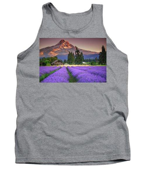 Mount Hood Lavender Field  Tank Top