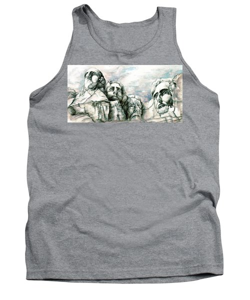 Mount Rushmore Monument - Fine Art Drawing Tank Top