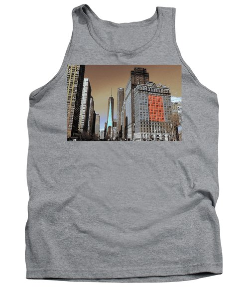 New York City - Lower Manhattan Skyline 2017 Tank Top