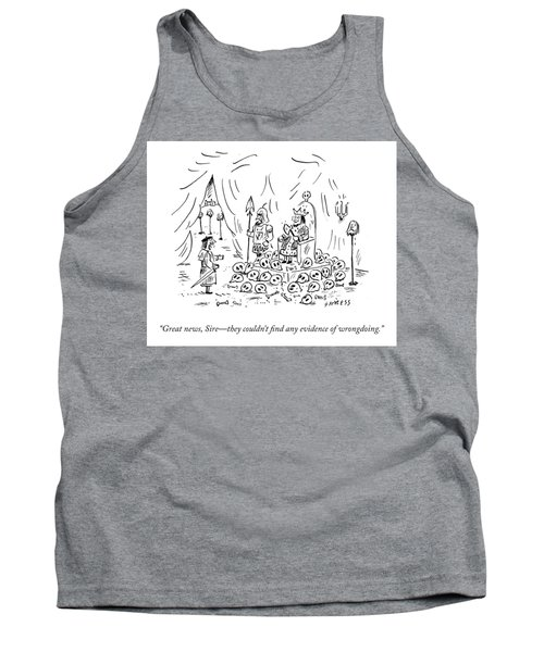 No Evidence Of Wrongdoing Tank Top