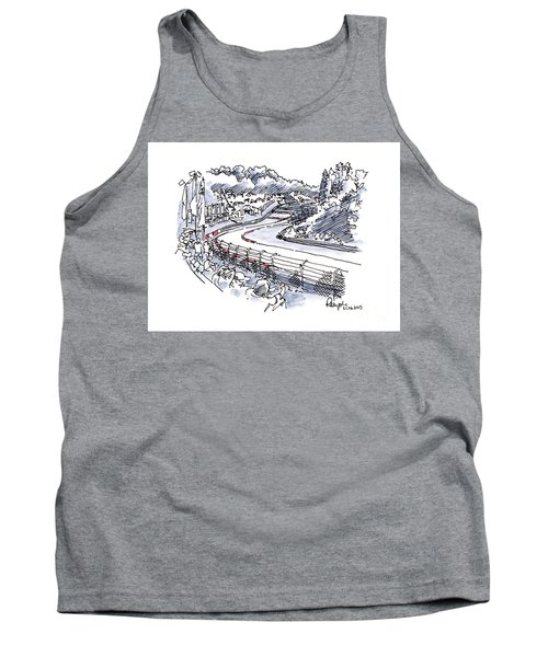 Nuerburgring Nordschleife Hatzenbach Racetrack Ink Drawing And W Tank Top