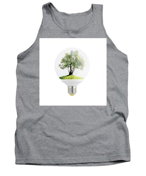 Olive Tree In Light Bulb. Tank Top