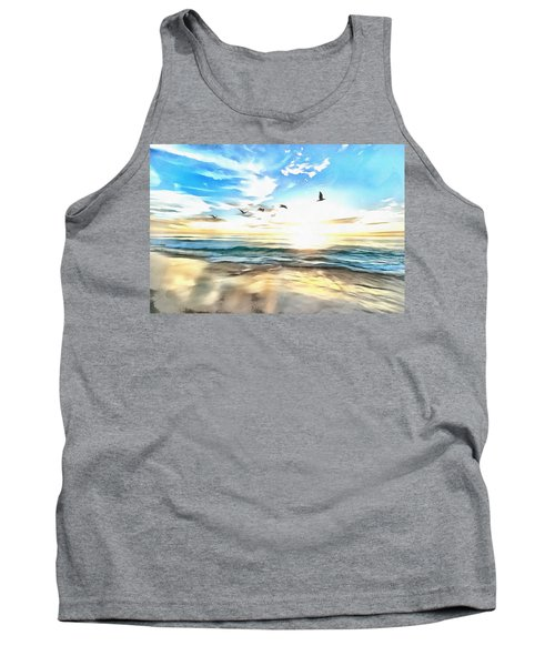 Tank Top featuring the painting Outer Banks by Harry Warrick