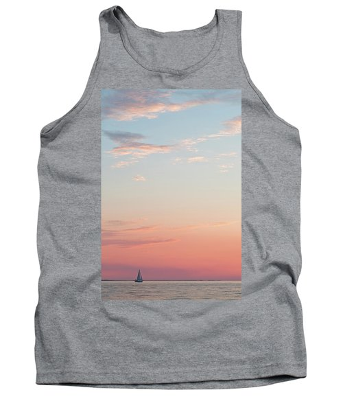Outer Banks Sailboat Sunset Tank Top
