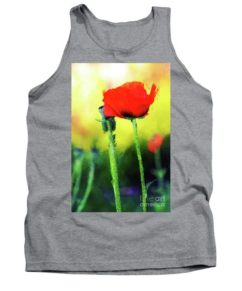 Painted Poppy Abstract Tank Top