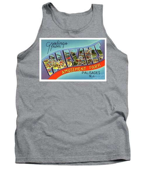 Palisades Amusement Park Greetings Tank Top