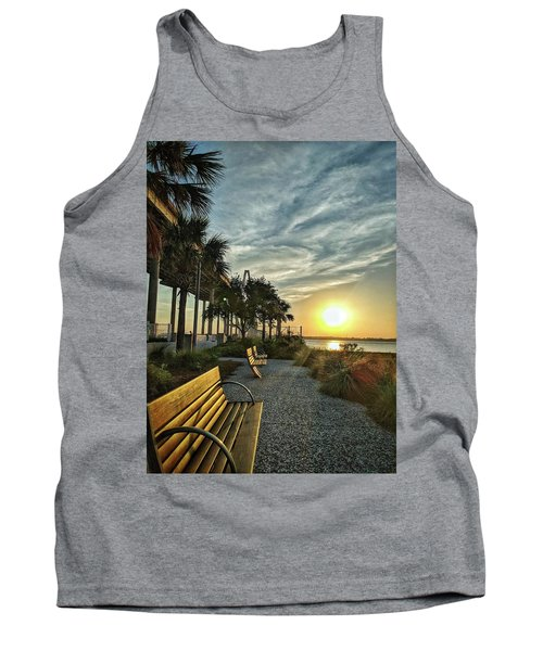 Palm Tree Sunset Tank Top