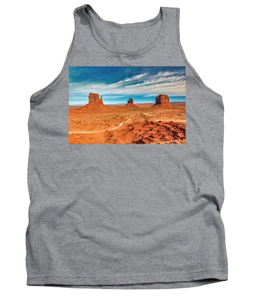 Tank Top featuring the photograph Panoramic Monument Valley by Andy Crawford