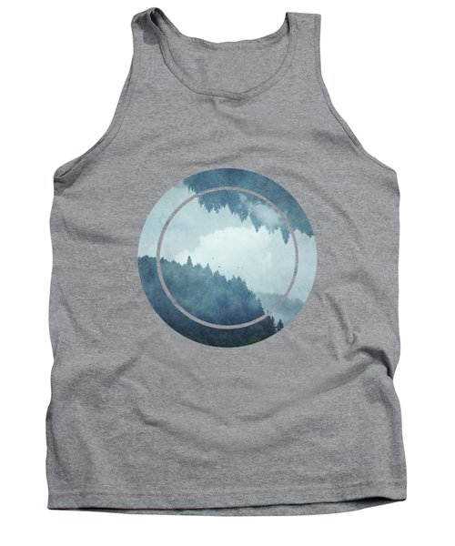Passing Days - Misty Blue Mountains Tank Top
