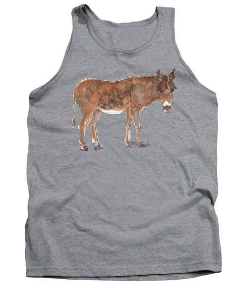 Pasture Boss 2015 Watercolor Painting By Kmcelwaine Tank Top