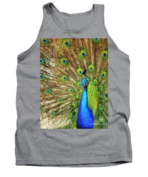 Peacock Colors Tank Top
