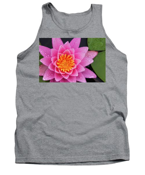 Pink Petals In The Rain  Tank Top