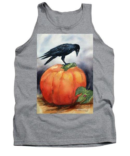 Pumpkin And Crow Tank Top