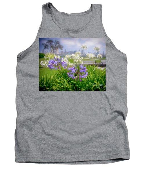 Purple Flowers In San Diego Tank Top