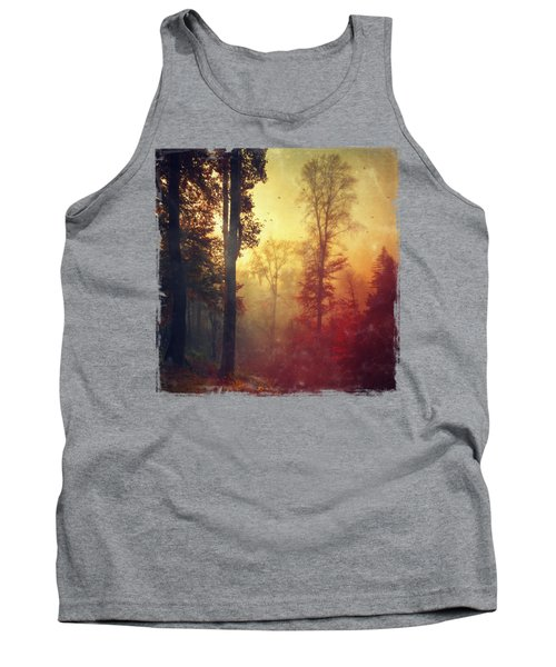 Quiet Morning - Misty Fall Forest Tank Top