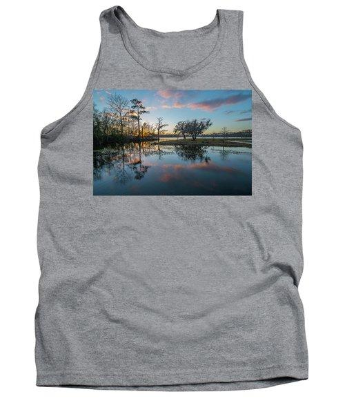 Quiet River Sunset Tank Top