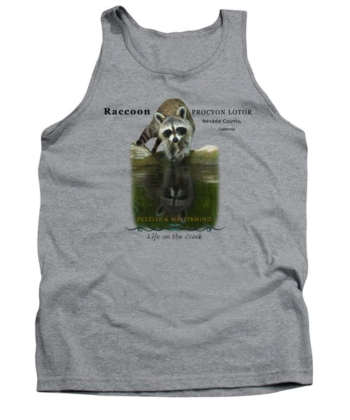 Raccoon Puzzler And Mastermind Tank Top