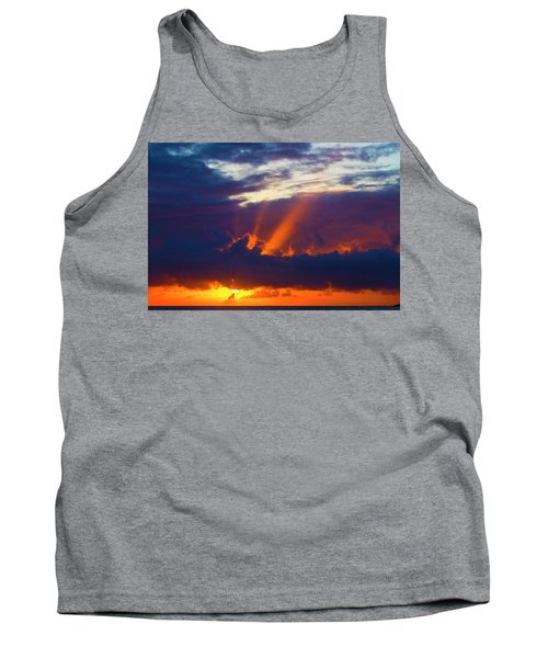 Rays Of Sunlight At Sunset Tank Top
