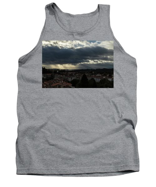 Tank Top featuring the photograph Rays Over Santiago by Alex Lapidus