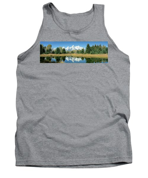 Reflection Of Mountains In Water, Grand Tank Top