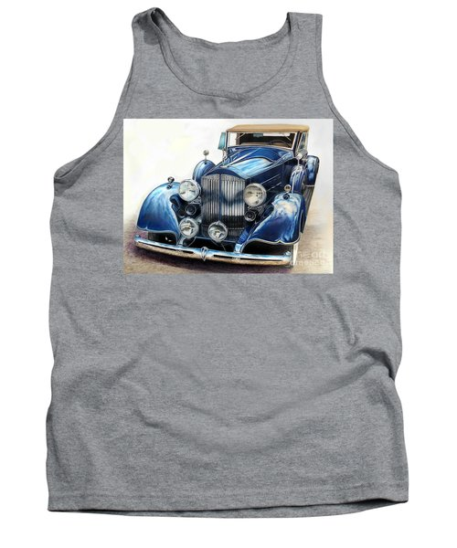 Reflection On Blue Tank Top
