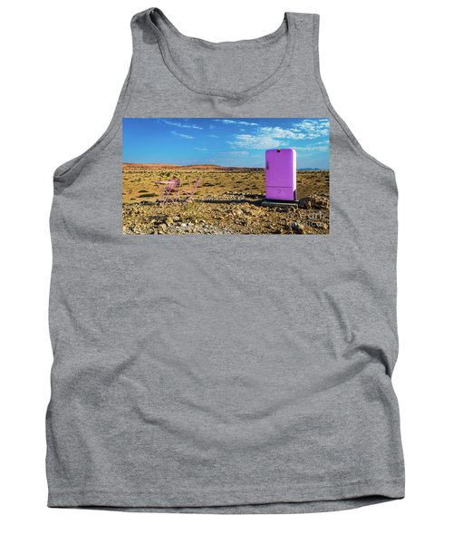 Refreshments Pit Stop In The Middle Of Nowhere Tank Top